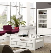 Table basse blanche loft Banak Importa