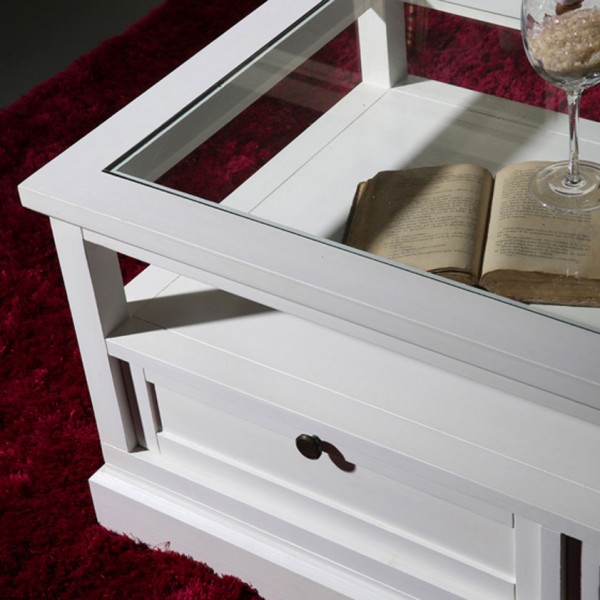 Table basse blanche nantes meubles bois banak for Salon du bois nantes