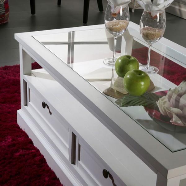 Table Basse Blanche Nantes Meubles Bois Banak