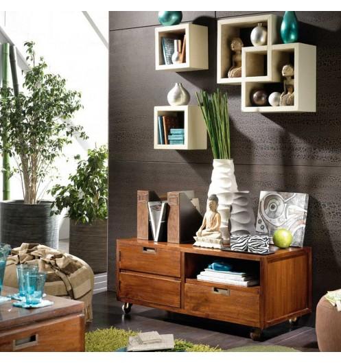meuble tv d pla able roulettes kebec marque banak. Black Bedroom Furniture Sets. Home Design Ideas