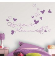 Stickers muraux violets dream caselio