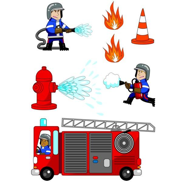 Sticker Enfant Pompier - Stickers Chambre Enfant Décoration Caselio