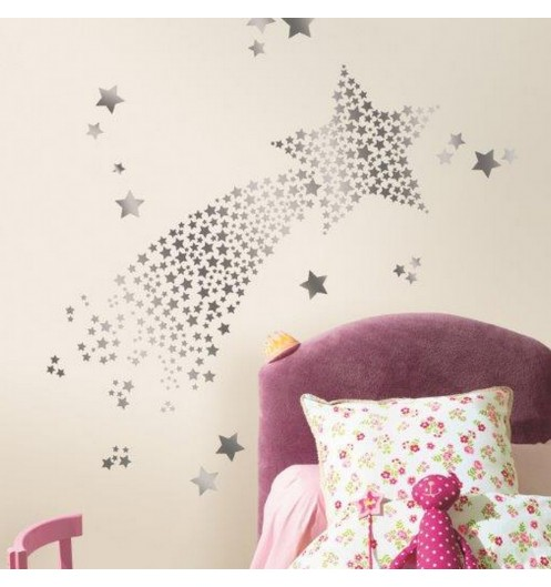 Stickers chambre fille stars hologramme stickers chambre for Stickers chambre fille