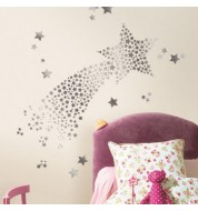 Stickers muraux hologramme stars caselio