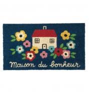 Paillasson coco/pvc fleur bonheur DLP