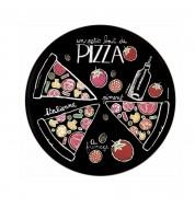 Plat à pizza avec roulette Ardoise