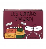 Boite à vin (garnie) les copains d'abord dlp