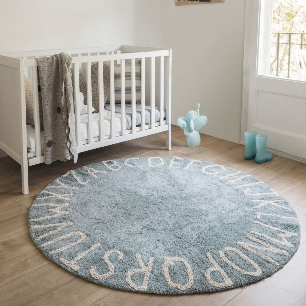 tapis rond chambre gar on tapis enfant lavable bleu. Black Bedroom Furniture Sets. Home Design Ideas