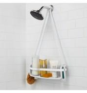 Etagère de douche ajustable Flex blanc