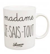Mug porcelaine Shaman Madame je sais tout