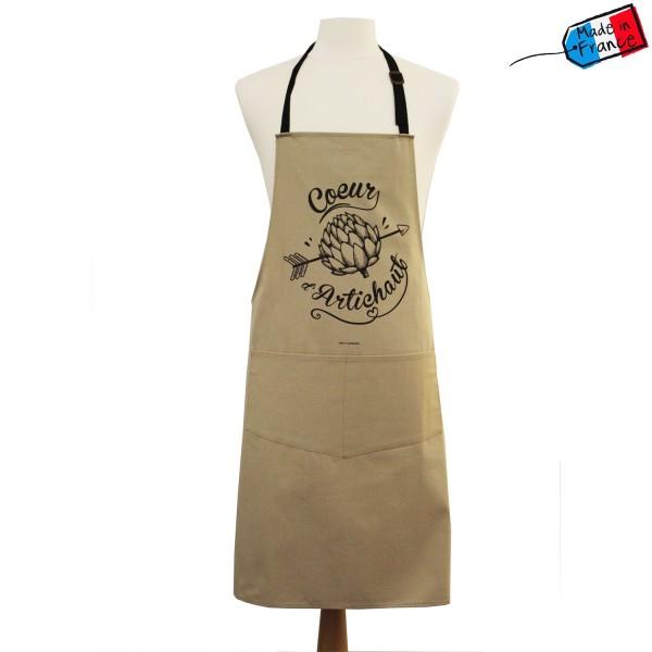 Tablier fabriqu en france tablier cuisine coeur d 39 artichaut - Cuisiner coeur d artichaut ...