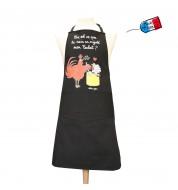 Tablier de cuisine noir Mijote Poulet
