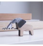 Tire bouchon original éléphant bois
