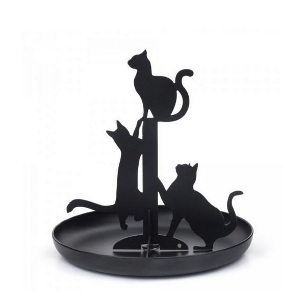 Porte bague chat noir