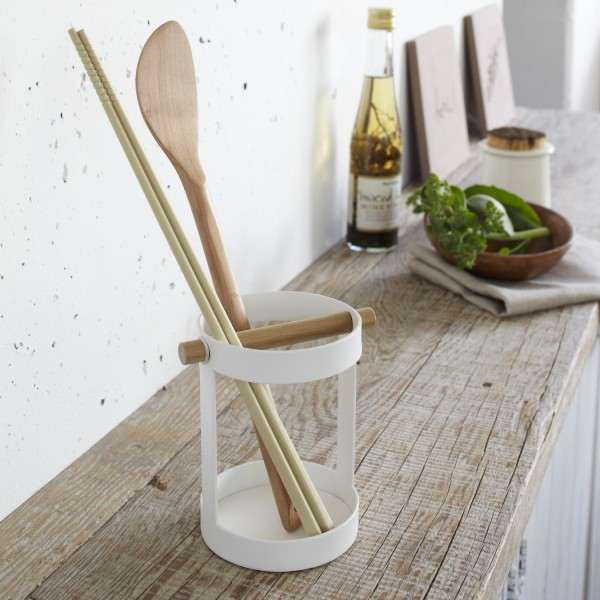 pot ustensile de cuisine m tal rangement cuisine yamazaki. Black Bedroom Furniture Sets. Home Design Ideas