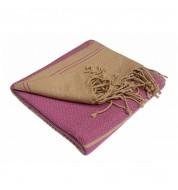 Fouta rose et sable coton bio Karawan