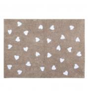 Tapis enfant lavable Coeurs (120x160cm)