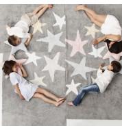 Tapis enfant Trois étoiles Gris