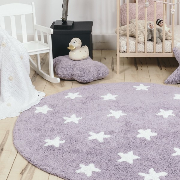 Awesome tapis violet chambre fille photos for Lit rond ikea