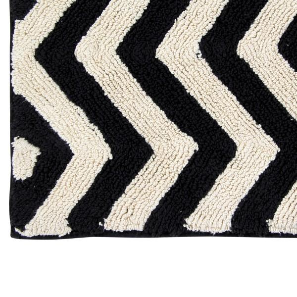 Grand tapis de salon lavable tapis noir et blanc - Tapis salon noir et blanc ...