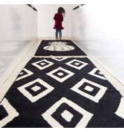Tapis noir et blanc Diamonds