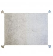 Tapis gris bleu dégradé 120x160cm