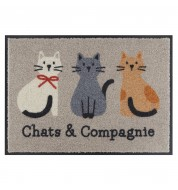 Tapis antidérapant Chats & compagnie