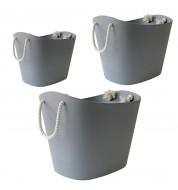 Panier rangement multi-fonction gris