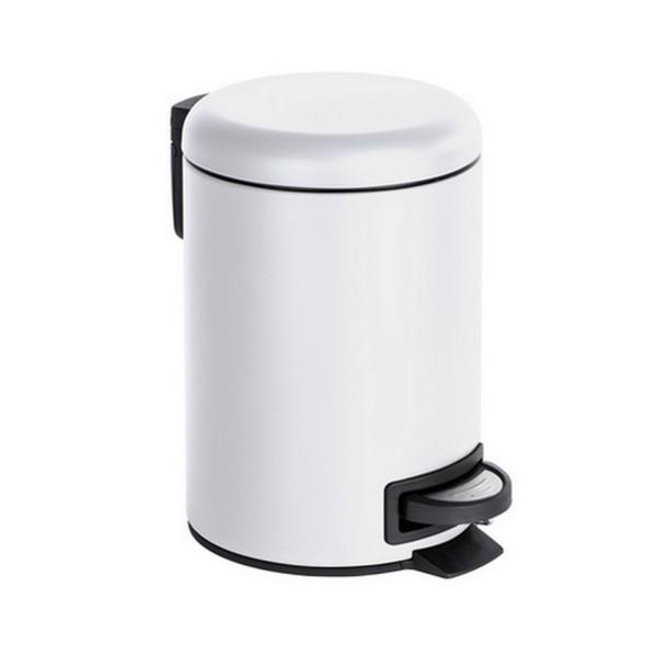 Poubelle salle de bain blanche petite poubelle p dale - Petite poubelle de salle de bain ...