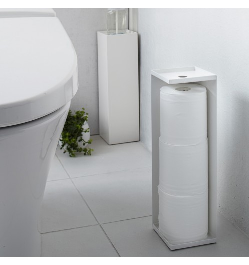 porte papier toilette blanc distributeur papier toilette yamazaki. Black Bedroom Furniture Sets. Home Design Ideas