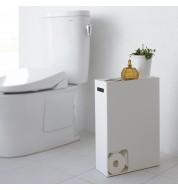 Porte papier toilette Plate Blanc