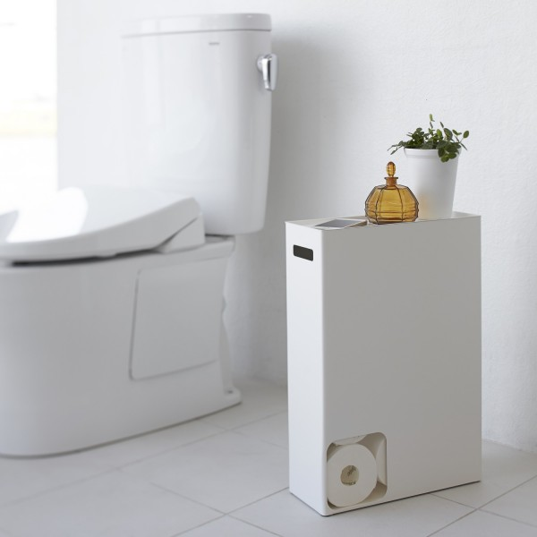 porte papier toilette yamazaki accessoires wc blanc. Black Bedroom Furniture Sets. Home Design Ideas