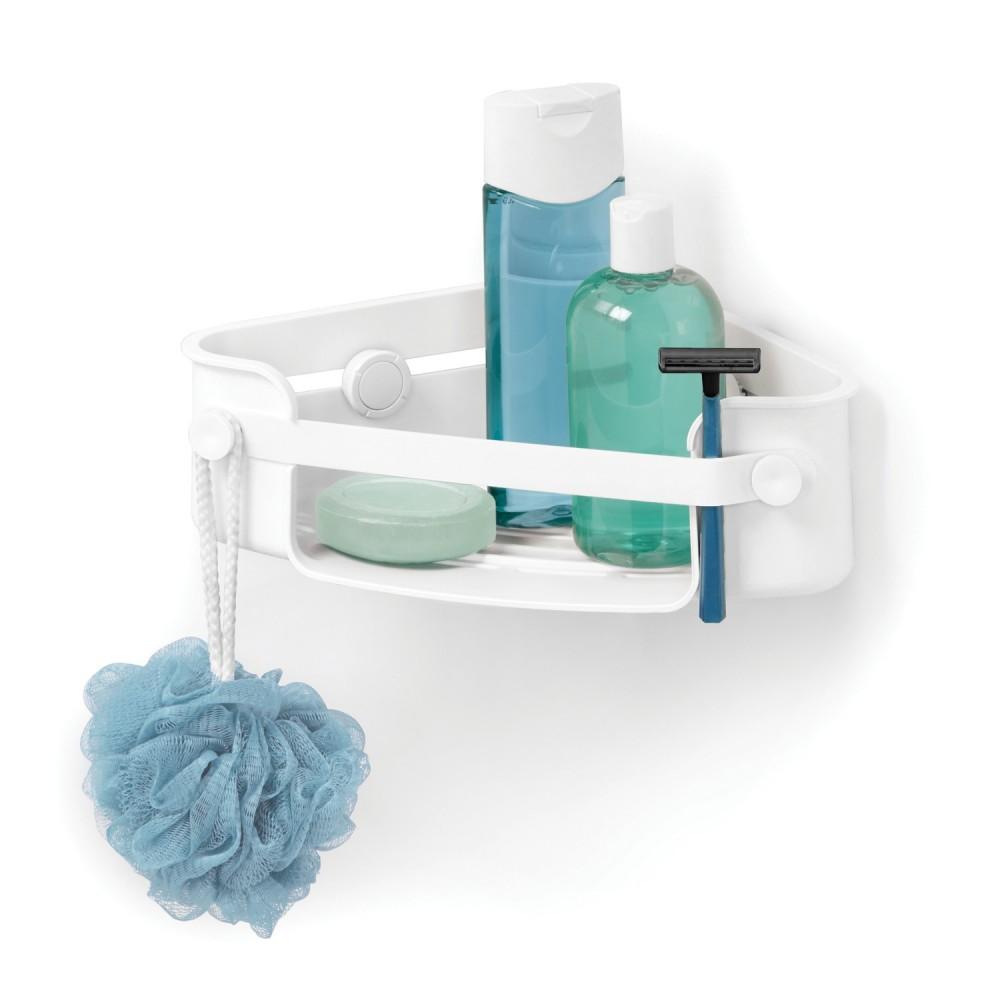 Etagere baignoire angle elegant photo dans barre de - Barre de baignoire d angle extensible ...