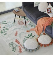 Tapis salon lavable Botanic Plants