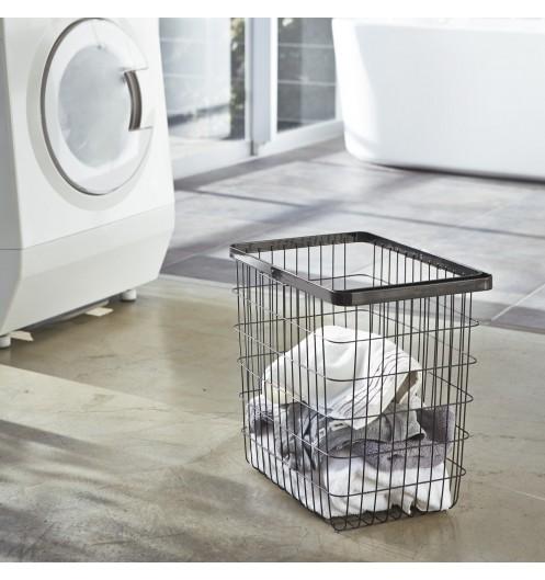 panier linge en m tal panier de linge sale yamazaki. Black Bedroom Furniture Sets. Home Design Ideas