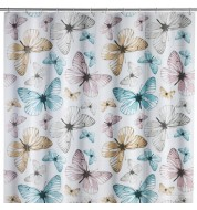 Rideau de douche Butterfly vintage Wenko