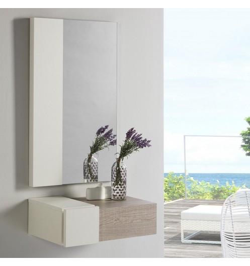 consolemeuble dentre en bois mlamin avec miroir httpswwwdeco et saveurscom15844