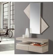 Meuble console avec 2 tiroirs + miroir