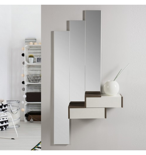 meuble console design avec trois miroirs meuble d 39 entr e. Black Bedroom Furniture Sets. Home Design Ideas