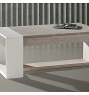 Table basse relevable design bois