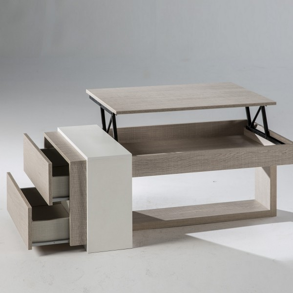 Table Basse Relevable Design Avec Tiroirs Table Basse Salon
