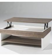 Table basse Relevable bois et blanc