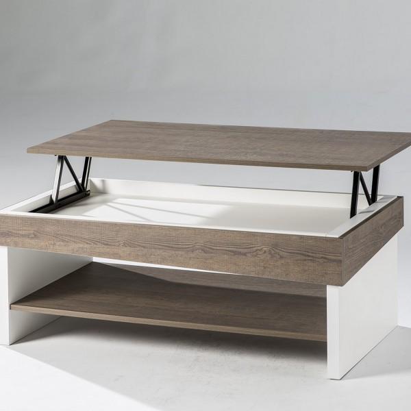 Table Basse Pour Salon Table Basse Relevable En Bois Melamine