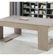 Table basse relevable en bois clair