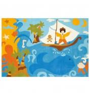 Tapis enfant Pirates en mer