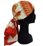 Foulard Rouge et Or