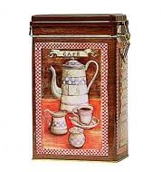 Boîte à café métal antic rectangulaire Virojanglor