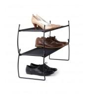 Range chaussures Métal et tissu noir Umbra