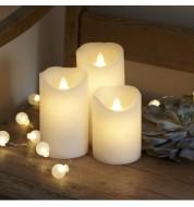 Coffret 3 bougies LED Blanc