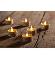 Lumignons Or Pailletés set de 6 pièces